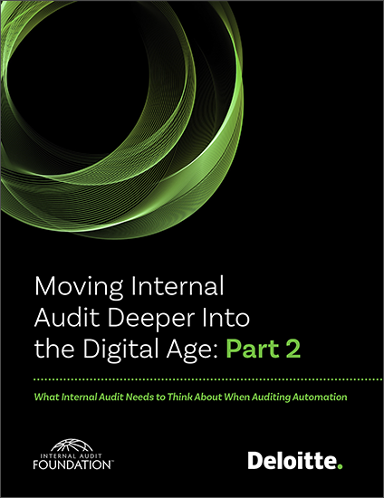 Moving Internal Audit Deeper Into the Digital Age